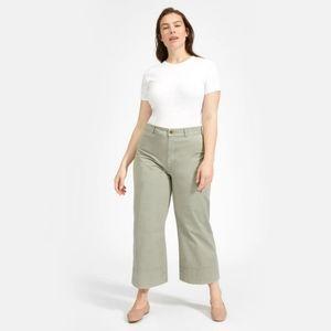 everlane lightweight wide leg crop pants size 4